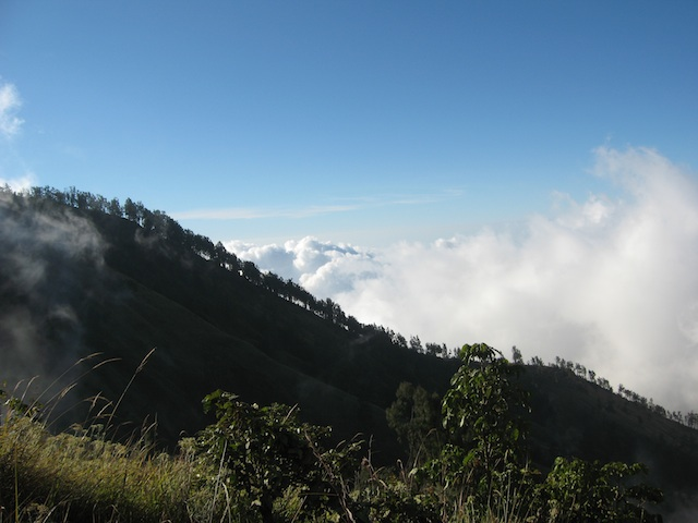 Rinjani above the clouds